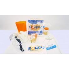 O novo sabonete líquido é dermatologicamente testado e 100% biodegradável.