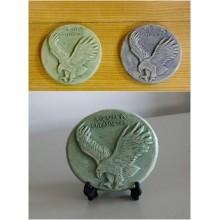 Medalhão cerâmica -  Aquila crysaetos