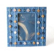moldura azul